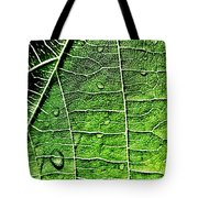 Leaf Abstract - Macro Photography Tote Bag