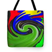 Leaf And Color Abstract Tote Bag