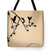 Leaf Birds Tote Bag
