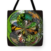 Leaf Collage Orb Tote Bag