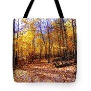 Leaf Covered Trail Tote Bag