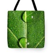 Leaf Dew Drop Number 10 Tote Bag