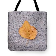 Leaf On Granite 2 - Square Tote Bag