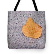 Leaf On Granite 2 Tote Bag