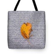 Leaf On Granite 3 - Square Tote Bag