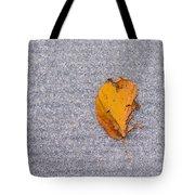 Leaf On Granite 3 Tote Bag