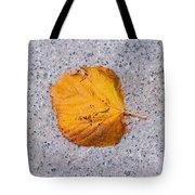 Leaf On Granite 7 - Square Tote Bag