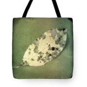 Leaf On Green Fabric Tote Bag