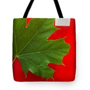 Leaf On Sign Tote Bag