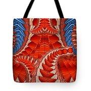 Leaf Pattern In Red Tote Bag
