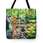 Leaf Stream Tote Bag
