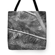 Leaf Venation With Water Beads Tote Bag