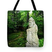 Leafy Path And Statuary Abby Aldrich Garden Tote Bag
