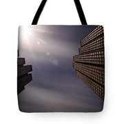 Lean Into The Light Tote Bag