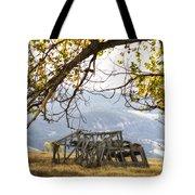 Lean To - Mormon Row - Grand Tetons Tote Bag