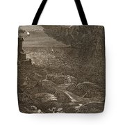 Leander Swims Over The Hellespont Tote Bag by Bernard Picart