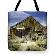 Leaning Barn Of Bodie California Tote Bag