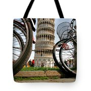Leaning Bicycles Of Pisa Tote Bag
