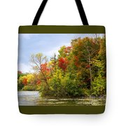 Leaning Into Autumn Tote Bag