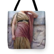 Leaning On The Balcony Tote Bag