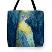 Leaning On The Lamp Post  Tote Bag