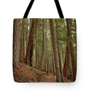 Leaning Over The Trail Tote Bag