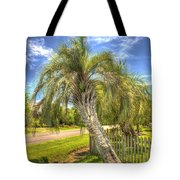 Leaning Palm Tote Bag