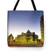 Leaning Tower By Dusk  Tote Bag