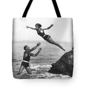 Leap Into Life Guard's Arms Tote Bag