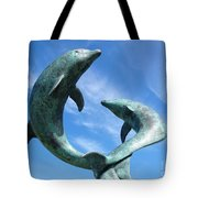 Leaping Dolphins In The Isles Of Scilly Tote Bag