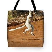 Leaping Lemur Tote Bag
