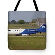 Learjet Used For Simulating Enemy Tote Bag