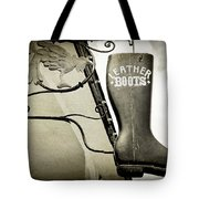 Leather Boots Tote Bag
