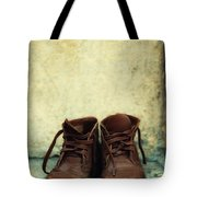 Leather Children Boots Tote Bag