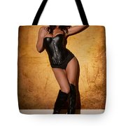 Leather Corset Tote Bag