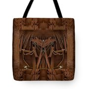 Leather Man In A Leather Collage Tote Bag
