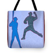 Leather Texture Art Bowler And Pitcher Base Ball Game Sports Competition Tote Bag