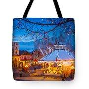Leavenworth Gazebo Tote Bag by Inge Johnsson