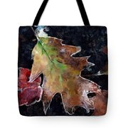 Leaves And Frost Tote Bag