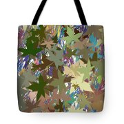 Leaves And Grass Abstract Tote Bag