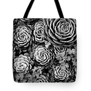 Leaves And Succulents Tote Bag