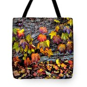Leaves At The Levee Tote Bag