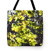 Leaves Blowing Tote Bag