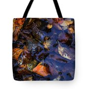 Leaves In A Puddle Tote Bag