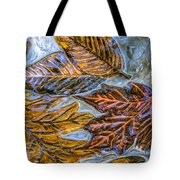 Leaves In Glass Tote Bag