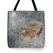 Leaves In Ice Tote Bag