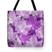 Leaves In Radiant Orchid Tote Bag
