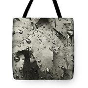 Leaves In Rain Tote Bag