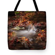 Leaves In The Creek Tote Bag