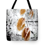 Leaves In The Frost Tote Bag